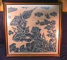 RARE Early Siam Goddess of Lightning Block Print