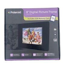 Polaroid 8 Inch Digital Photo/Picture Display, Espresso Finish Wood Frame