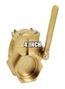 4 inch Brass Lever Swing Gate Valve FNPT X FNPT