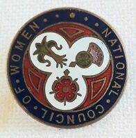 vintage National Council of women enamel badge/Pin size 26 mm
