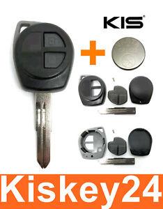 2T Ersatz Schlüssel Gehäuse für Nissan Pixo Suzuki Swift Alto Grand + Batterie