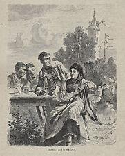 Originaldrucke (1800-1899) aus Baden-Württemberg und Deutschland mit Holzschnitt