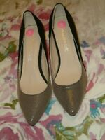 Unusual Anne Michelle 2 Tone Shoes.Uk Size 5(38)Small Check & Black Suede.Lovely
