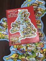 Waddingtons Shaped JIG-MAP Jigsaw PUZZLE - BRITISH ISLES 1983 - Educational