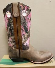 New smoky Mountian western boots pink & brown camo women's size 6.5