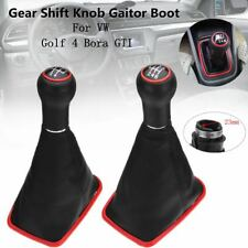 23mm 5/6 Speed MT Gear Shift Knob Gaitor Boot PU Leather For VW Golf 4 Bora GTI