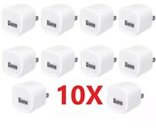 10 x 1A Usb Home Wall Charger Ac Adapter Plug For iPhone 5 6 7 8 X 11 Max White