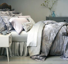 Sferra TULLIA King Duvet Cover Wisteria Grey Egyptian Cotton Sateen Jacquard New