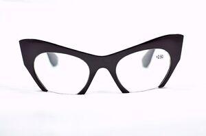 Cat Eye Eyeglasses Black Stylish Bat Girl 1950 60s Retro Glasses Frame TN13E