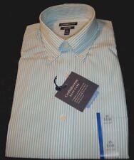 NWT Croft & Barrow Mens Classic Fit SZ 15 32-33 Sleeve Blue Mist & White Striped