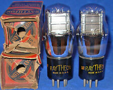 Rare NOS / NIB Matched Pair Raytheon Type 52 Twin Grid Triode Tubes