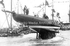 Hyt-99 Launch Of The Shamrock IV, Yacht. Photo