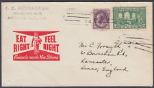WW2 Eat Right Feel Right Canada needs You Strong Patriotic/Propaganda Envelope