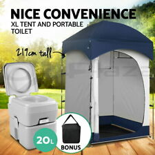 Weisshorn 20L Outdoor Portable Toilet Camping Shower Tent - Grey
