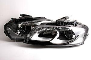 HELLA Bi-Xenon LED DRL Headlights PAIR Fits AUDI A3 Sportback Facelift 2008-