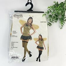 Womens Sexy Bumblebee Halloween Costume Dress Wings Thigh Highs Headpiece Sz S