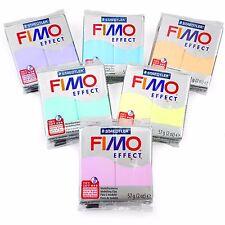 FIMO Effetto Polimero FORNO modellazione argilla - 57g-Set di 6-finitura PASTELLO