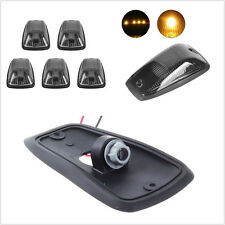 5 X 12V Waterproof Smoke Lens Car 4X4 Cab Roof Top Marker Running Lights Covers