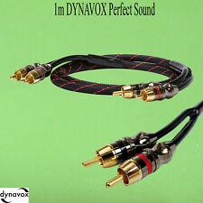 1m DYNAVOX Perfect Sound Stereo-Chinch kabel 1 m Cinch Profikabel Audio Kabel(90