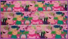 1 metre, PEPPA PIG, 22mm, Ribbon, 7/8, Grosgrain, George, Sewing, Cake Decor