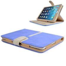 New 360 Rotation Suede Stand Case Cover For Apple iPad Mini / iPad Mini 2 Blue