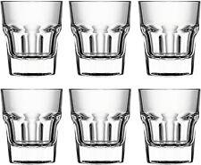 Circleware Scorchers Shot Glass Set of 6 Pcs 1.5 oz Clear Heavy Base Glassware