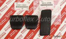 Toyota Supra 1986-1998 Accelerator Clutch Brake Pedal Pad Set of 3 Genuine
