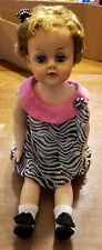 Vintage 25'' Tall Doll With Sleep Eyes And Rubber Band & Pin Jointed -Unmarked