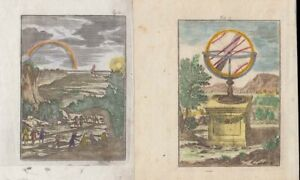 1685 Two Mallet Engravings of Astronomy & Weather