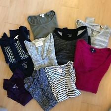 Women's Clothing Lot Of 10 Items Shirt Tops All Size XS