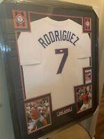 Pudge Rodriguez Authentic Autograph Framed Jersey COA Texas Rangers MLB