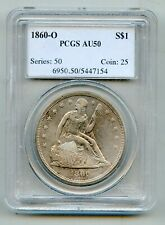 1860 O Seated Liberty Silver Dollar PCGS AU 50