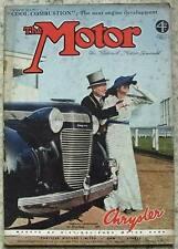 The MOTOR Magazine 6 July 1937 1 ½ Litre MG LAMMAS-GRAHAM Road Tested FRENCH GP