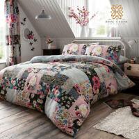 Ellis Floral Patchwork Duvet Cover Set Pillowcase Quilt Bedding Double King Sale