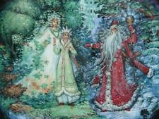 Kholui Art Studio Snowmaiden Series Plate No 8 Snowmaiden With Spring And Winter
