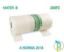 Palucart 200 SHOPPER biodegradabili 22+6+6x50 in rotolo 200 buste con manico