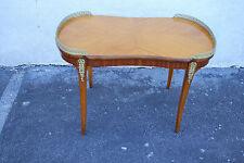 Beautiful French Satinwood & Kingwood Coffee Table with Bronze Ormolu, c. 1900's