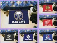 NHL Licensed Man Cave Starter Area Rug Floor Mat Carpet - Choose Your Team