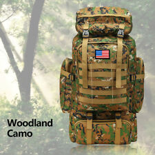 80L Waterproof Shoulders Backpack Hiking Rucksack MilitaryTactical Camping bag