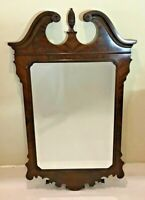 Drexel Heritage Heirlooms Flame Mahogany Chippendale Beveled Wall Mirror 56""