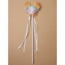 Girls Princess Multi-Coloured Butterfly Rainbow Wand Fancy Dress Party