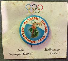 1956 OLYMPIC GAMES BADGE MELBOURNE ORIGINAL
