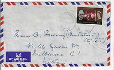 Br. Solomon Islands 1966 Sc# 147 Churchill single rate use to Australia (L74)
