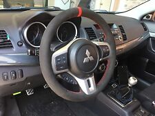 Lancer EVO Evolution X 10 suede steering wheel cover wrap