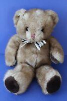 "Russ Carnaby 2 Tone Brown Teddy Bear Plaid Bow Tie 15"" Plush Stuffed Animal 4716"