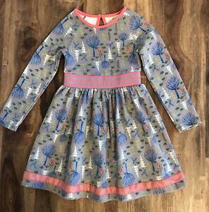 Matilda Jane Girls Pink & Gray Print Dress Sz 6