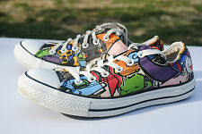 Multi- Color Low Cut Converse, Men's Size 7, Used, Good Condition