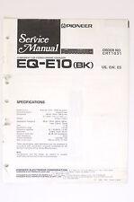 Pioneer eq ebay pioneer eq e10 bk original service manualguide wiring diagram cheapraybanclubmaster Images
