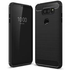 LG V30 Handy Hülle von NALIA, Silikon Case Cover Dünn Carbon Look Schutz Bumper
