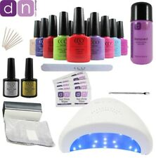CCO Deluxe UV Nail Gel Polish Starter Kit Set 48W LED Lamp FREE NEXT DAY P&P